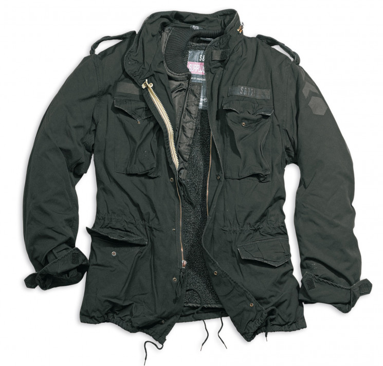 КУРТКА REGIMENT M65 JACKE SCHWARZ GEWASHED, SURPLUS 202501.63