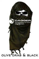 АРАФАТКА Tactical Shemagh OD/Black код DAGGER DI-9054