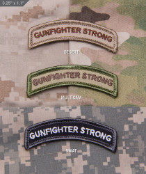 ШЕВРОН ПАТЧ на липучке Gunfighter Strong код MSM patch-00146-multicam