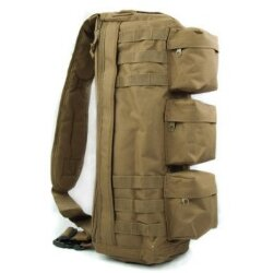 СУМКА НАПЛЕЧНАЯ Tactical Go Pack Camping Military (600D) Tan AS-BS0012T