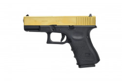 ПИСТОЛЕТ ПНЕВМ. WE GLOCK-19 gen3, металл слайд, Titanium Version WE-G003A-TG