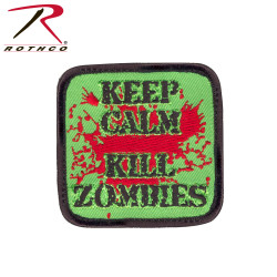 ШЕВРОН ПАТЧ на липучке KEEP CALM-KILL ZOMBIES код ROTHCO 73196