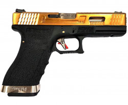 ПИСТОЛЕТ ПНЕВМ. WE GLOCK-19 G-Force металл слайд, Titanium Version WE-G003WET-TG