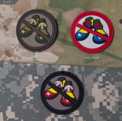 ШЕВРОН ПАТЧ на липучке No Clown Shoes PVC код MSM patch-00171-arid