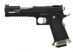 "ПИСТОЛЕТ ПНЕВМ. WE COLT M1911 HI-CAPA 6"" Dragon,  Black / Silver, WE-H018WETCA-BK"