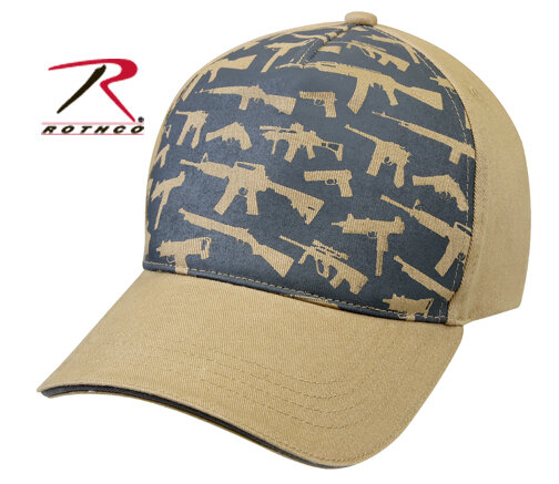 КЕПКА DELUXE LOW PROFILE CAP / GUNS - KHAKI код ROTHCO 9733