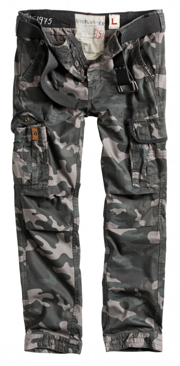 БРЮКИ PREMIUM SLIMMY BLACK CAMO, SURPLUS 53602.42