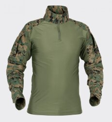 РУБАШКА ТАКТИЧЕСКАЯ ПОЛЕВАЯ (COMBAT SHIRT) - USMC Digital Woodland, код HELIKON-TEX KO-CS2-PO-07