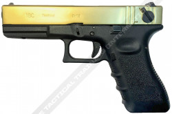 ПИСТОЛЕТ ПНЕВМ. WE GLOCK-18 gen3, авт, металл слайд, Titanium Version WE-G002A-TG