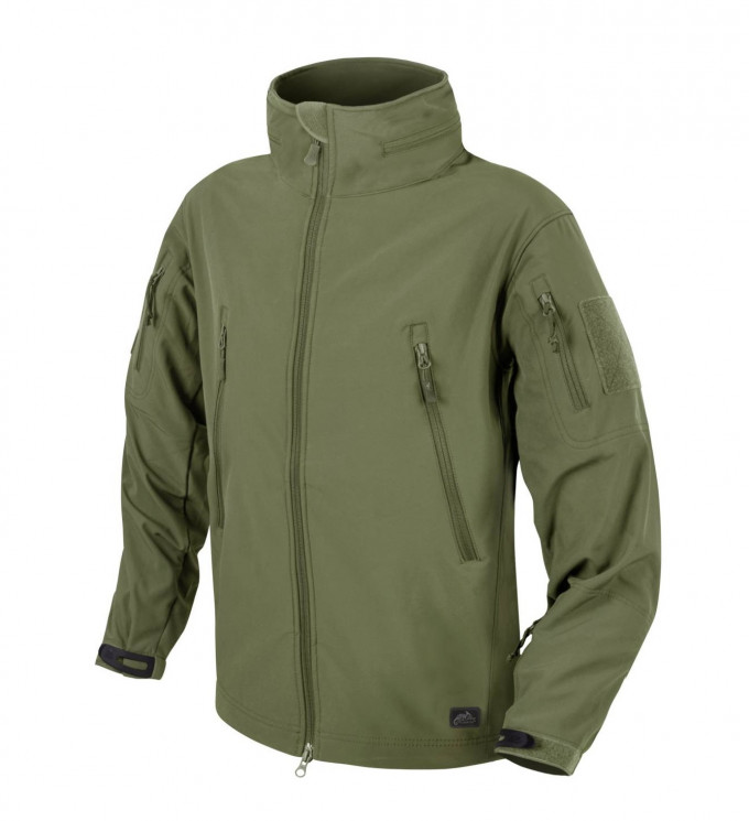 КУРТКА GUNFIGHTER SOFT SHELL WINDBLOCKER- OLIVE GREEN, код HELIKON-TEX KU-GUN-FM-02