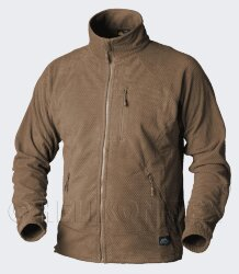 КУРТКА ALPHA - Grid Fleece - Coyote, код HELIKON-TEX BL-ALP-FG-11