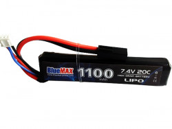 АКБ BlueMAX 1100mAh Lipo 7.4V 20C stick 10x21x102mm  AUG, G36, М-серия цевье, MP40, АК под крышку