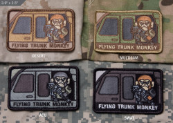 ШЕВРОН ПАТЧ на липучке Flying Trunk Monkey код MSM patch-00070-desert