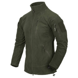 КУРТКА ALPHA TACTICAL - Grid Fleece - Olive Green, код HELIKON-TEX BL-ALT-FG-02