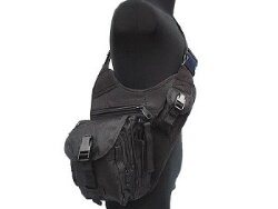 СУМКА НАПЛЕЧНАЯ SWAT Utility Military Tactical (600D) BLACK код AS-BS0019B