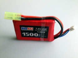 АКБ BlueMAX 7.4V Lipo 1500mAh 20C stick (PEQ/AN-15) 16x43x65mm  AUG, MP40, М249 , ПКМ , приклад весло