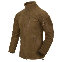КУРТКА ALPHA TACTICAL - Grid Fleece - Coyote, код HELIKON-TEX BL-ALT-FG-11