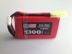 АКБ BlueMAX 11.1V Lipo 1300mAh 20C stick (PEQ/AN-15) 17x43x65mm AUG, P90, MP-40, ПКМ, РПК, M-249,во все приклады весло