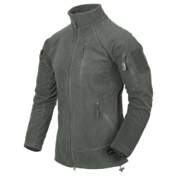 КУРТКА ALPHA TACTICAL - Grid Fleece - Foliage Green, код HELIKON-TEX BL-ALT-FG-21