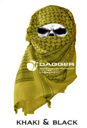 АРАФАТКА Tactical Shemagh Khaki/Black код DAGGER DI-9001