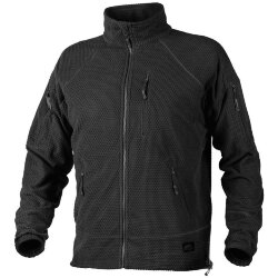 КУРТКА ALPHA TACTICAL - Grid Fleece - Black, код HELIKON-TEX BL-ALT-FG-01