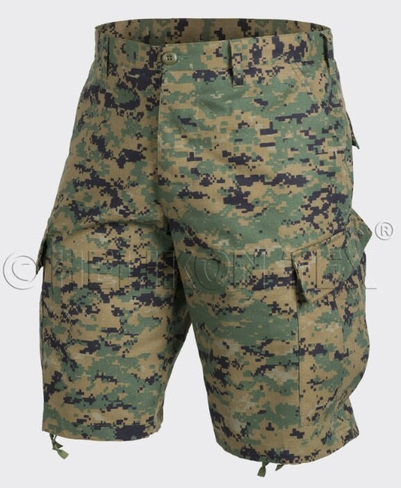 ШОРТЫ ACU - Nyco Twill - USMC Digital Woodland, код HELIKON-TEX SP-ACK-NT-07