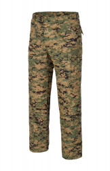 БРЮКИ USMC - PolyCotton Ripstop - Digital Woodland, код HELIKON-TEX SP-USM-PT-07