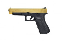 ПИСТОЛЕТ ПНЕВМ. WE GLOCK-34 gen3, металл слайд, Titanium Version  WE-G008A-TG