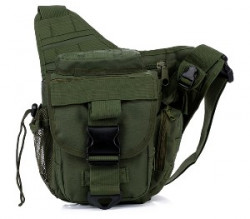 СУМКА НАПЛЕЧНАЯ Tactical Utility Side Shoulder Carrier AS-BS0017OD