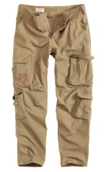 БРЮКИ AIRBORNE SLIMMY BEIGE GEWASHED, SURPLUS 53603.74