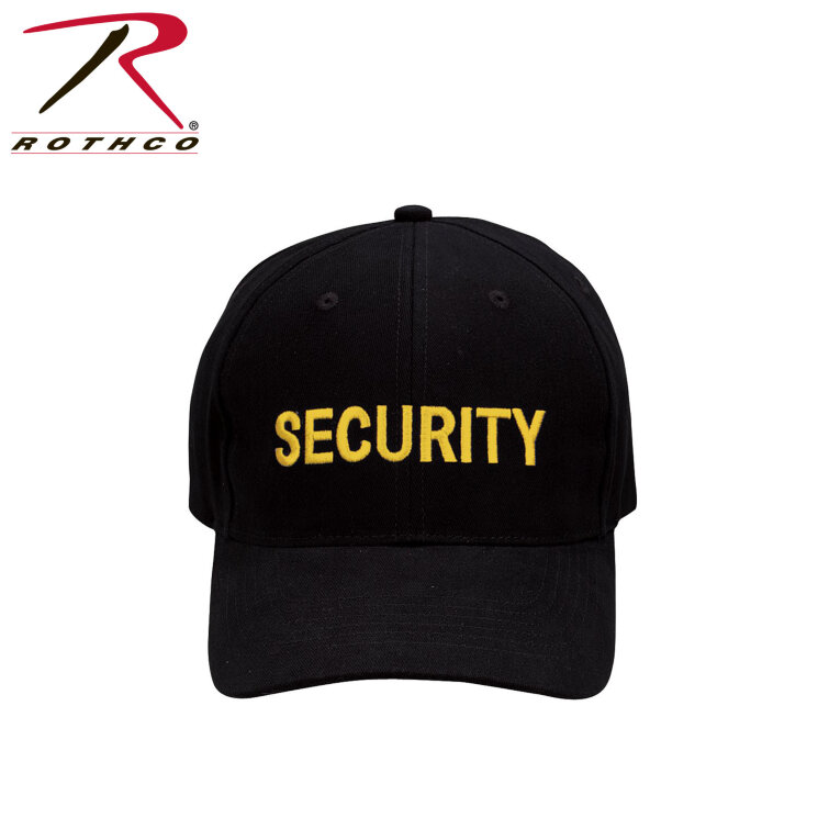 КЕПКА ROTHCO LOW PROFILE -BLK / SECURITY - GOLD  код ROTHCO 9284