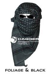 АРАФАТКА Tactical Shemagh Foliage/Black Color код DAGGER DI-9003