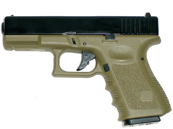 ПИСТОЛЕТ ПНЕВМ. KJW GLOCK G32C GBB, мет. слайд, OD version, KP-03-MS (OD) GP609