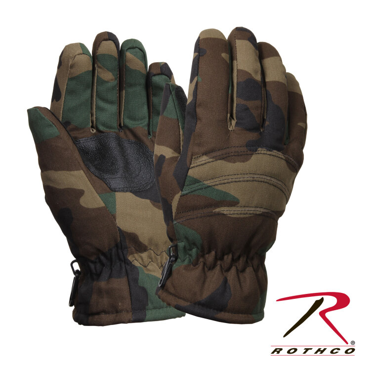 ПЕРЧАТКИ CAMO INSULATED HUNTING, код ROTHCO 4944